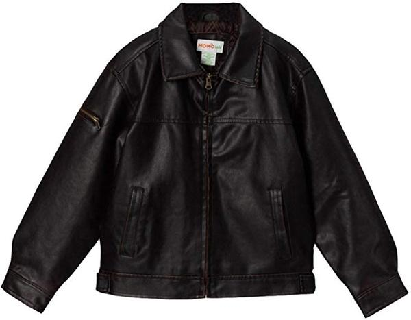 Best for Big Boys: Momo Grow Big Boys Faux Leather Bomber Jacket