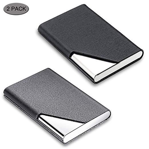 Best Style: Business Card Holder, DMFLY 2 Pack Business Card Case
