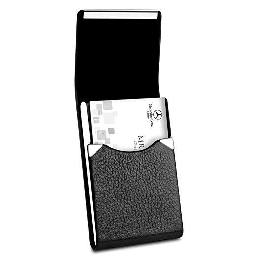 Best Vertical: Padike Professional Business Card Holder PU Leather