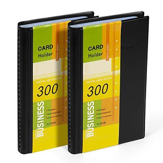 Best For Storage: Petutu Business Card Holder Organizer Book