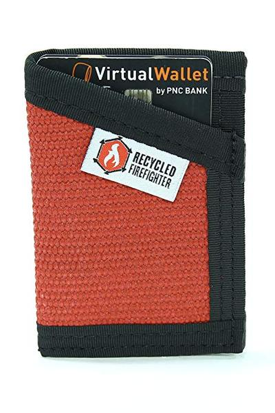 Best Front Pocket: Recycled Firefighter Slim Minimalist Canvas Wallet