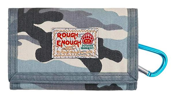 Best For Travel: Rough Enough Military Trifold Canvas Wallet