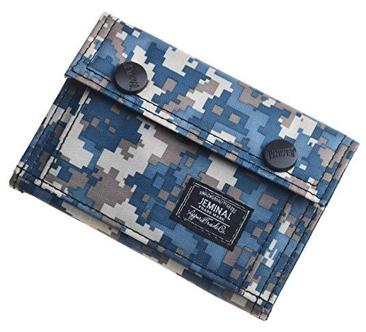 Best for Teens: JEMINAL Men's Camo Printed Bifold Canvas Wallet for Teens Boys