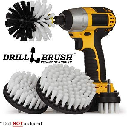 Best Car Cleaning Supplie: Drillbrush Automotive Soft White Drill Brush - Leather Cleaner