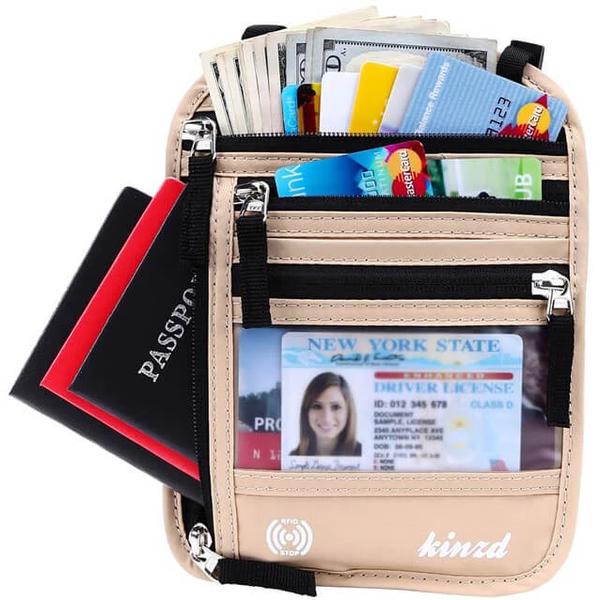 Best Overall: Kinzd Neck Wallet Family Passport Holder