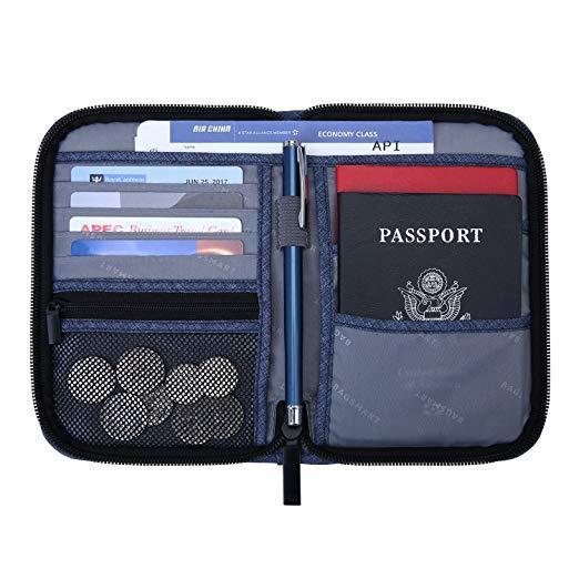 Best for Organization: BAGSMART Travel RFID Blocking Passport Holder for Men and Women