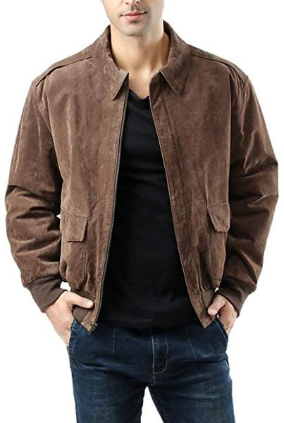 Best Style: Landing Leathers Men's Air Force A-2 Suede Leather Flight Jacket