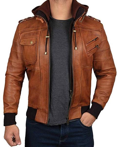 Best Shape: Blingsoul Genuine Leather Bomber Jacket for Men