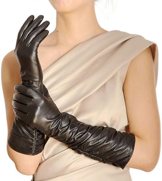 Best For Winter: WARMEN Womens Winter Long Evening Dress Texting Touchscreen Leather Gloves