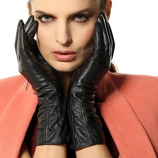 Best for Smartphone: WARMEN Women's Lambskin Touchscreen Texting Leather Gloves in Winter
