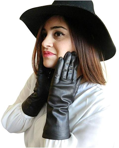 Best Value: FOWNES Women's Cashmere Lined Lambskin Leather Gloves