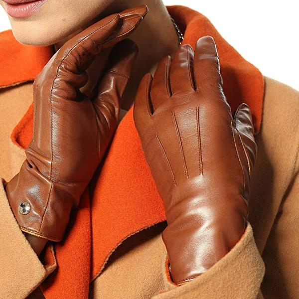 Best Design: Elma Womens Classic Touchscreen Texting Winter Warm Driving Hairsheep Leather Gloves