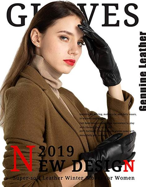 Best Style: FEIQIAOSH Super-soft Leather Winter Gloves for Women