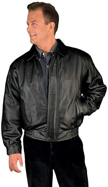 Best American Style: REED Men's American Style Bomber Leather Jacket