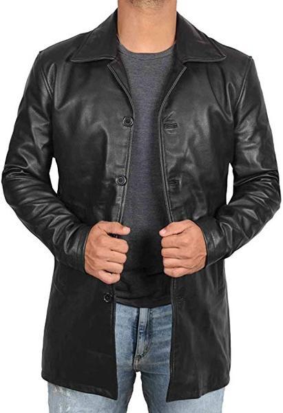 Best Black Coat: Blingsoul Leather Jacket for Men
