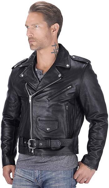 Best Gender Neutral:Nomad USA Motorcycle Leather jacket for Men