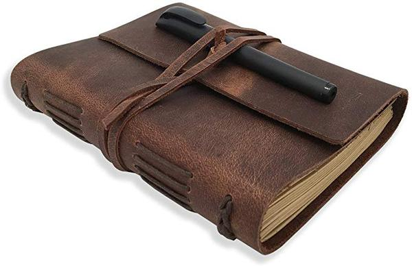 Best Retro: POROMO Leather Journal Writing Notebook