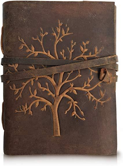 Best Budget: Moonster Leather Journal Tree of Life