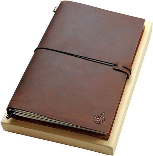 Best Style: WANDERINGS Large Leather Journal