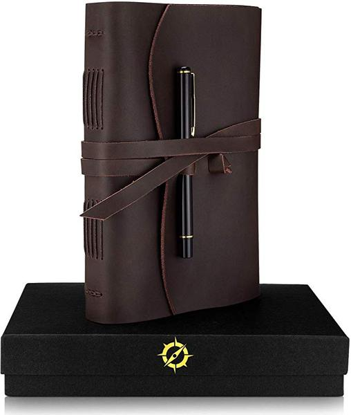 Best for the Traditionalist: Jofelo Leather Journal Lined Paper A5