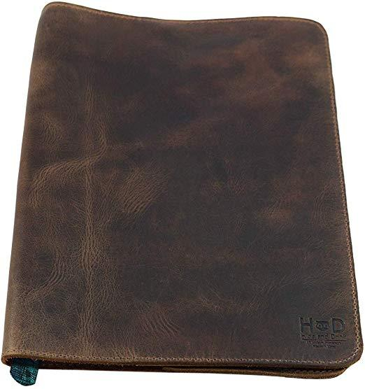 Best Handmade: Hide & Drink Rustic Leather Refillable Journal Cover for Moleskine Cahier XL (7.5 x 9.75 in.)