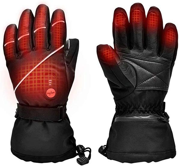 Best Overall: SNOW DEER Upgraded Heated Motorcycle Gloves for Men & Women