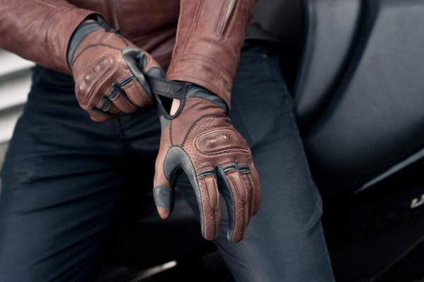Best Budget: SHIMA Caliber Mens Vintage Leather Motorcycle Gloves - Brown / Large