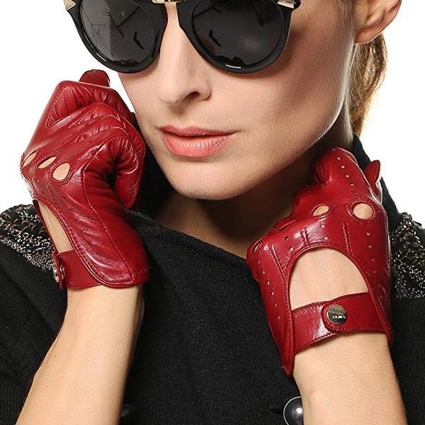 Best for Women: Elma Tradional Women's Italian Leather Motorcycle Gloves