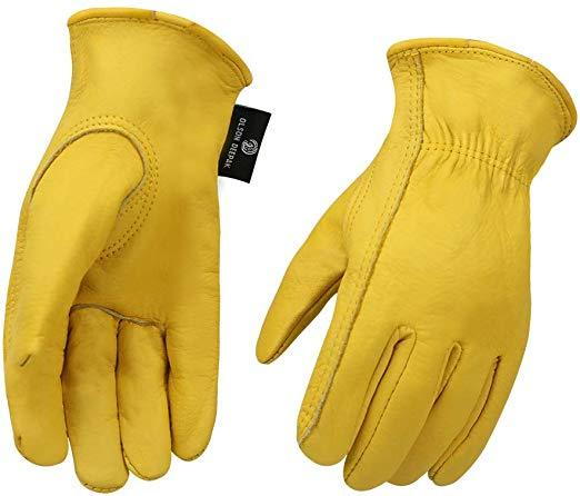 est for Functionality: OLSON DEEPAK Cowhide Leather Motorcycle Gloves