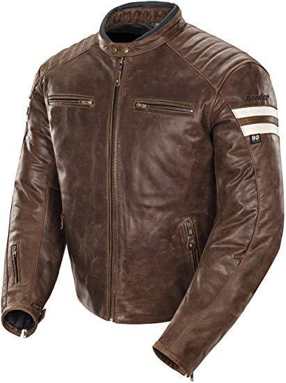 Best Overall: Joe Rocket 1326-2304 Classic '92 Men's Leather Motorcycle Jacket