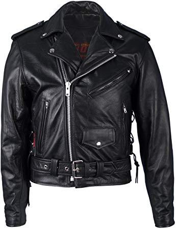 Best Motorcycle: Hot Leathers Classic Leather Motorcycle Jacket with Zip Out Lining