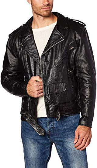 Best Classic: MILWAUKEE LEATHER Men's Classic Leather Motorcycle Jacket