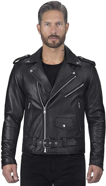 Best Gender Neutral: Viking Cycle Leather Motorcycle Jacket for Men