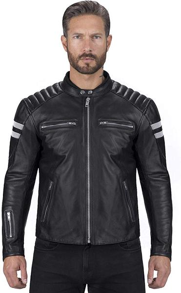 Best Budget: Viking Cycle Bloodaxe Leather Motorcycle Jacket for Men