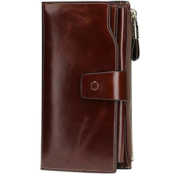Best for Organization: Itslife Women's Large Capacity Luxury Wax Genuine Leather Wallet