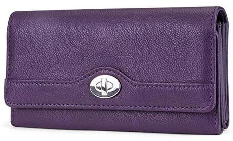 Best Classic: Mundi File Master Womens Leather Wallet With Change Pocket