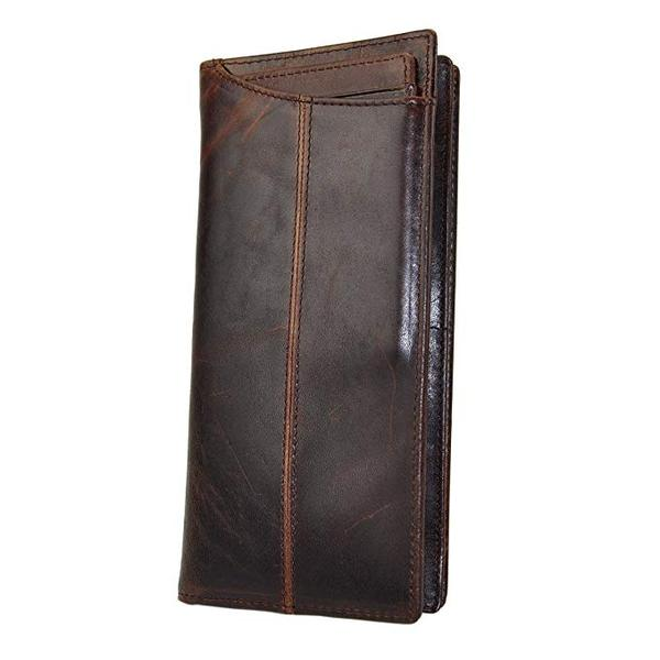 Best for Organization: Le'aokuu Mens Leather Checkbook Wallet