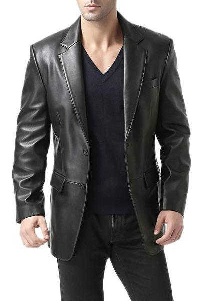 Best Classic: BGSD Men's Richard Classic Lambskin Leather Blazer