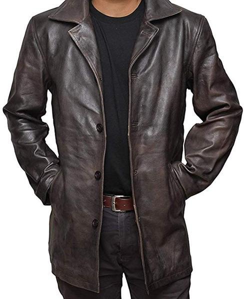 Best Brown: fjackets Brown Leather Coat for Men