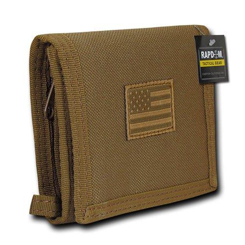 Best Trifold: RAPDOM USA US American Flag Military Trifold Wallet