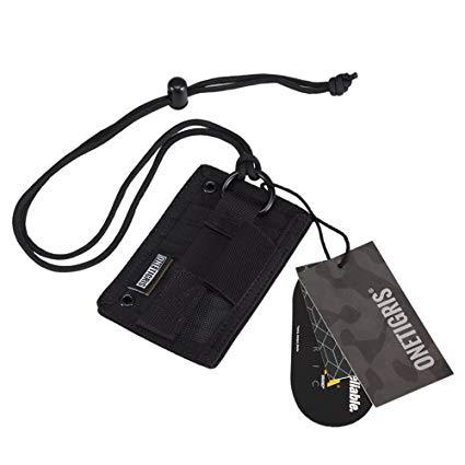 Best Tactical: OneTigris Tactical ID Card Holder Hook & Loop Patch Badge Military Holder