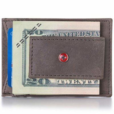 Best Thin: Alpine Swiss Leather Money Clip Wallet