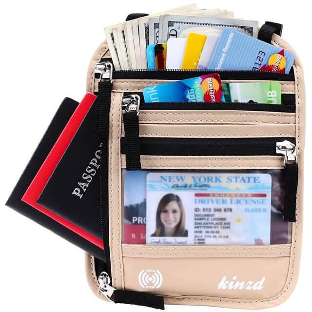 Best Overall: Kinzd Neck Wallet