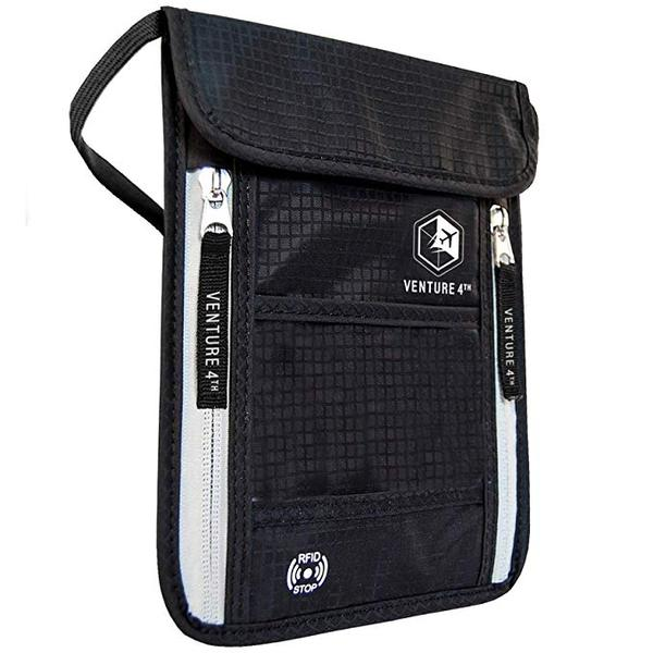 Best Value: Venture 4th Travel Neck Pouch Neck Wallet with RFID Blocking