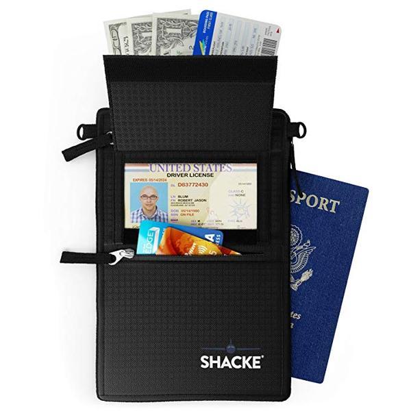 Best Belt Wallet:Shacke Hidden Travel Belt Wallet w/RFID Blocker