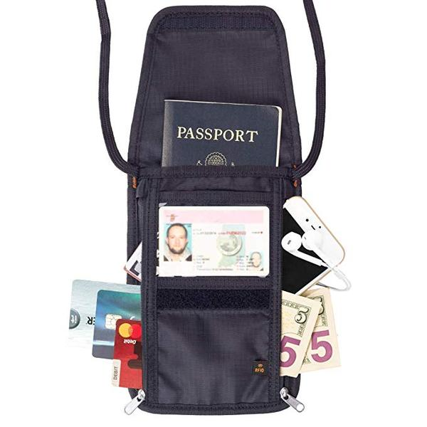 Best for Travel: Tarriss Neck Wallet with RFID Blocking