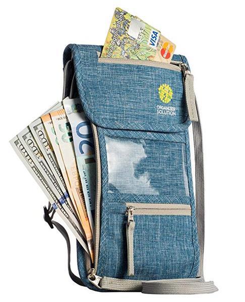 Best for Organization: Organizer Solution Neck Wallet