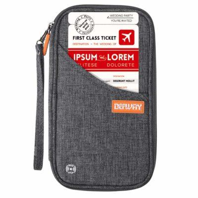 Best Overall: Defway Travel RFID Blocking Passport Holder