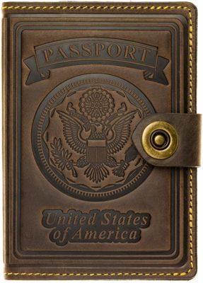 Best Retro: Villini Leather RFID Blocking US Passport Holder Wallet