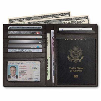 Best for Organization: Travel Navigator RFID Blocking Leather Passport Holder For Men and Women